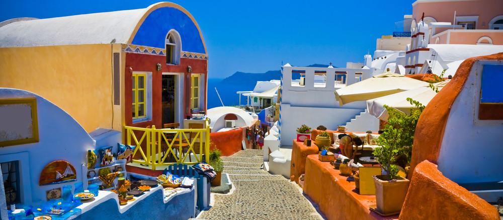 Kreikka värikäs katu