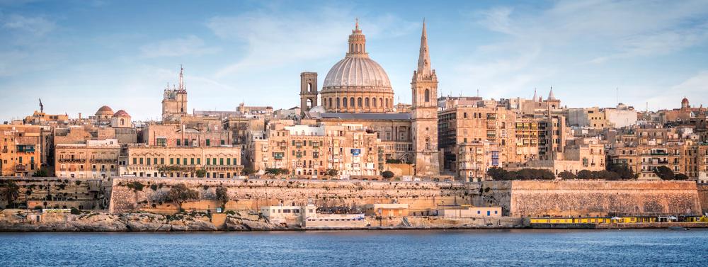Malta Valletta Skyline
