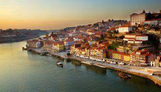 Porton kaupunki Portugalissa